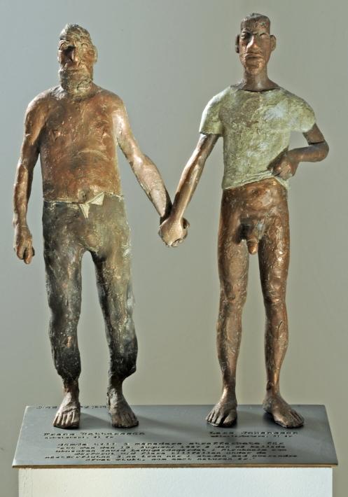 Frans och Lars, brons, 2018